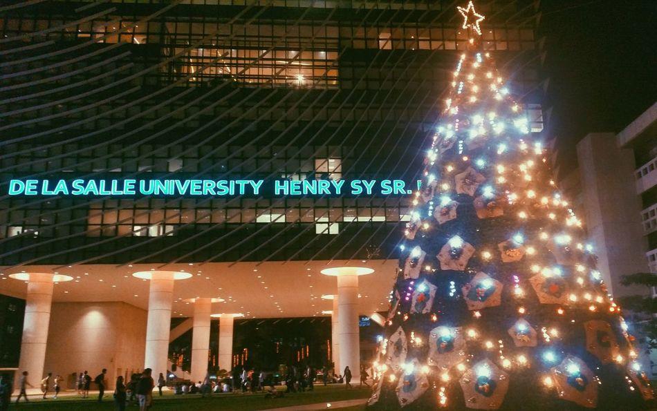 Last christmas in school ? Christmas Tree Christmas Lights Christmas DLSU