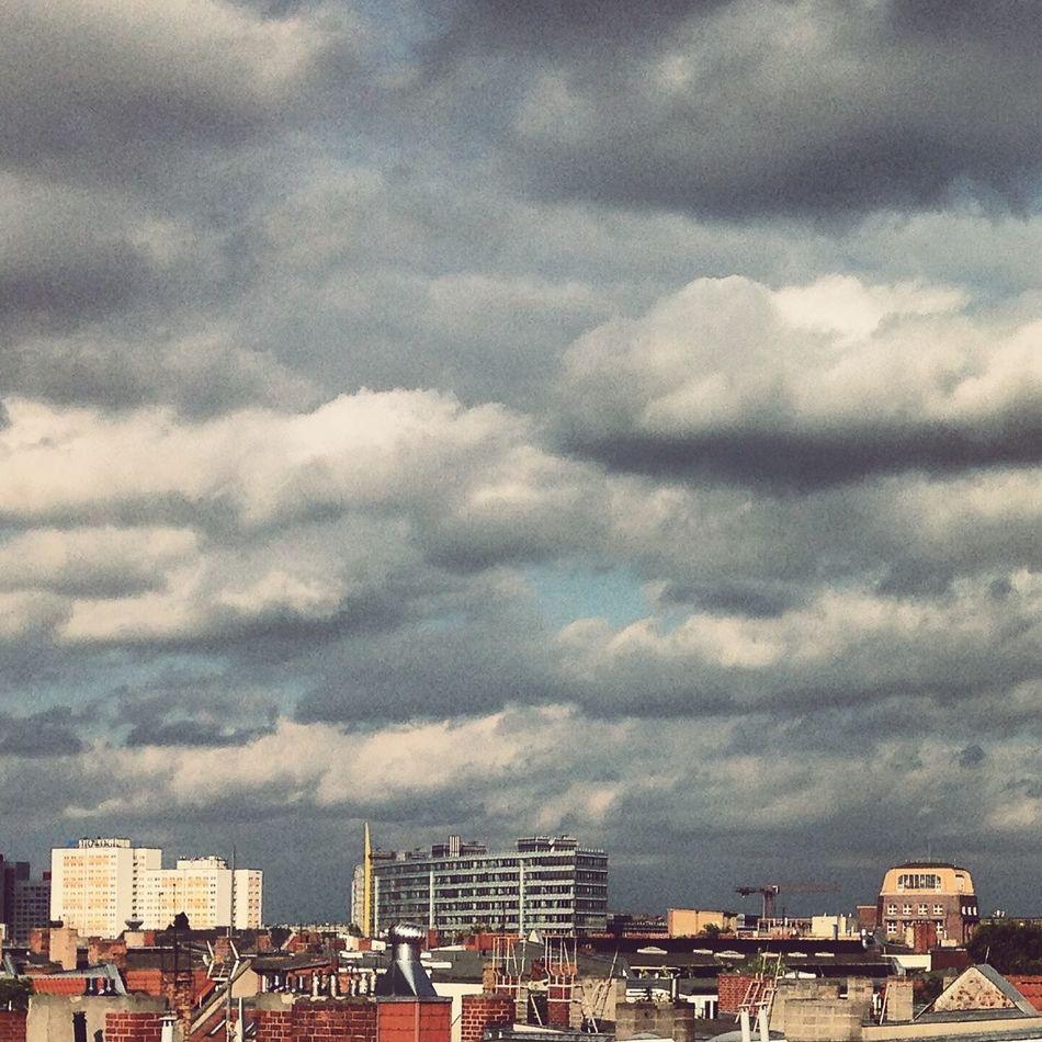 Berlin Berlin Photography Berlincity Berliner Ansichten Berlinstagram Big Clouds Cloud - Sky Clouds Clouds And Sky Cloudy Friedrichshain Horizon Panoramic Roof Roofs Rooftop Rooftops Skyline Storm Clouds Stormy Viewpoint