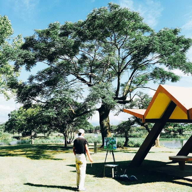 Tree Lifestyles Park - Man Made Space Person Outdoors Sunny Nature Favorite Light And Shadow Eyem Best Shots Creativity Streetphotography IPhoneography Mobilephotography