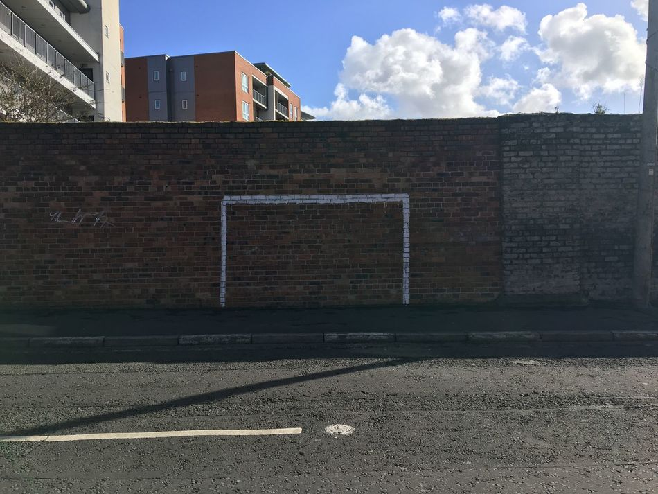 Score Playground Brick Wall Outdoors Building Exterior Football