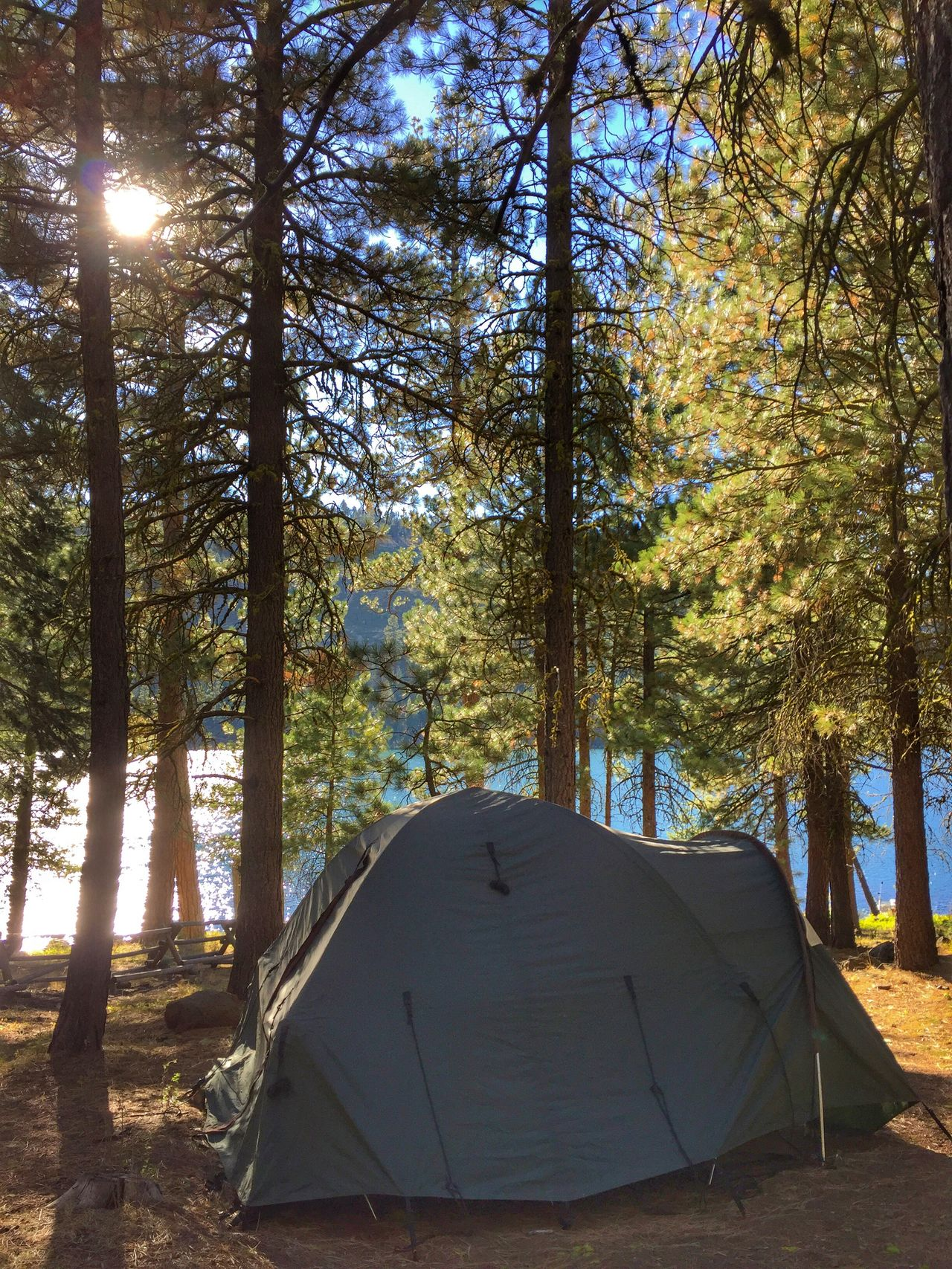 CAMPING AT BLUE LAKE, CALIFORNIA Camp Tent Nature Outdoors Lake View Lakeshore Modoc County California Blue Lake