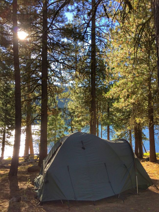 CAMPING AT BLUE LAKE, CALIFORNIA Camp Tent Nature Outdoors Lake View Lakeshore Modoc County California Blue Lake
