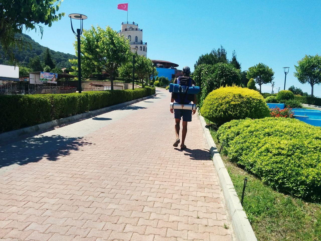 Rear View Walking Full Length Tree Outdoors Sky Headwear Kumluca, Antalya Kumluca Söğütcuması Gun Batımı Bulut ışık
