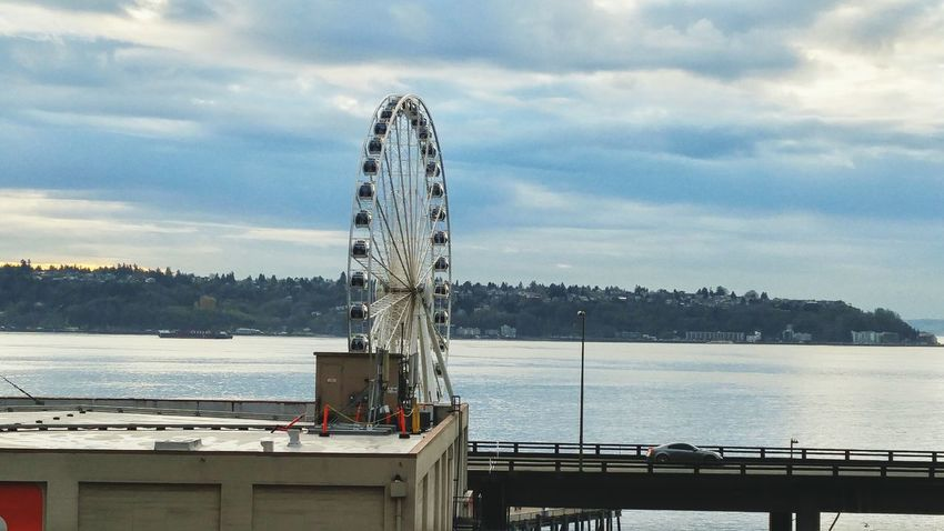 Sky Outdoors Seattle Tourist Attraction  SeattleLife Seattle Waterfront Ferriswheelinthecity🎡🎢 Low Angle View