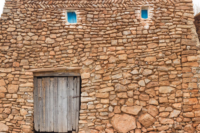 Architecture Backgrounds Berbere House Brick Wall Building Exterior Built Structure Day Full Frame Morroco No People Old Outdoors Rustic House Stone Wall Vilage House