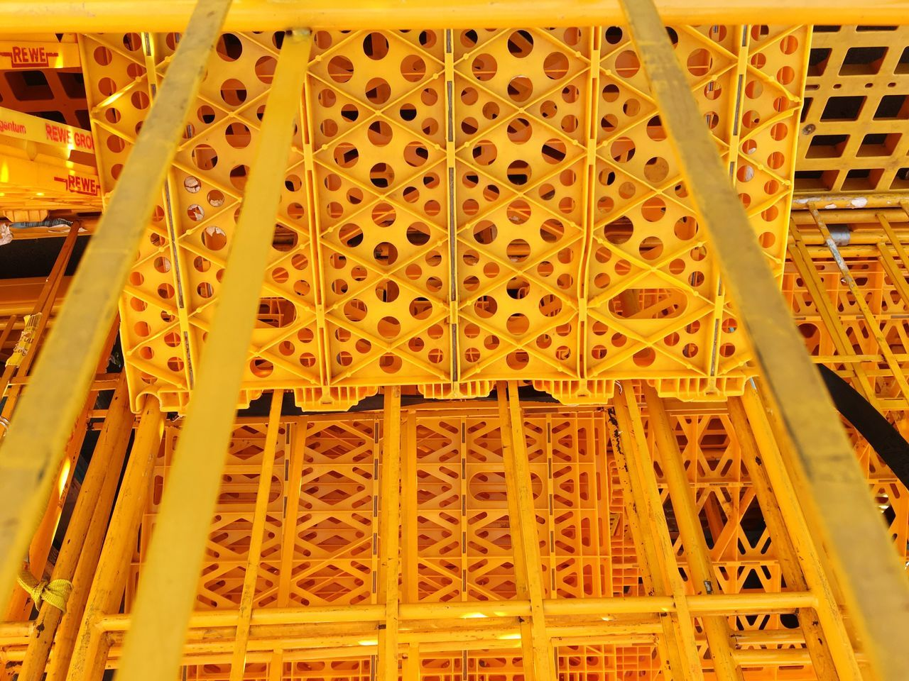 Yellow Built Structure Low Angle View Pattern Architecture No People Pattern, Texture, Shape And Form Eyeem Market Getting Inspired Exceptional Photographs Plastic