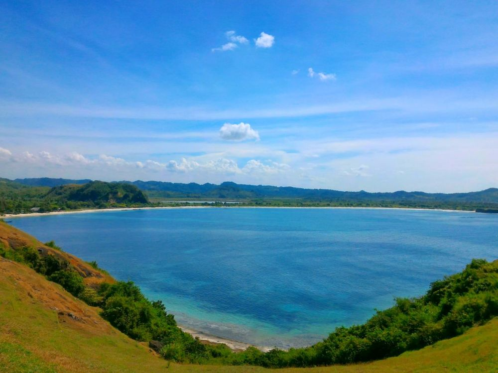 "A Bird's Eye View ""Blue"" Lake Blue Water Sky Sky Beauty In NatureNon-urban Scene Nature Travel Destinations Mountain Tourism Day Cloud - Sky Vacations Outdoors Summer INDONESIA Lombokisland Indonesia_photography Outdoor Life Naturallovers"