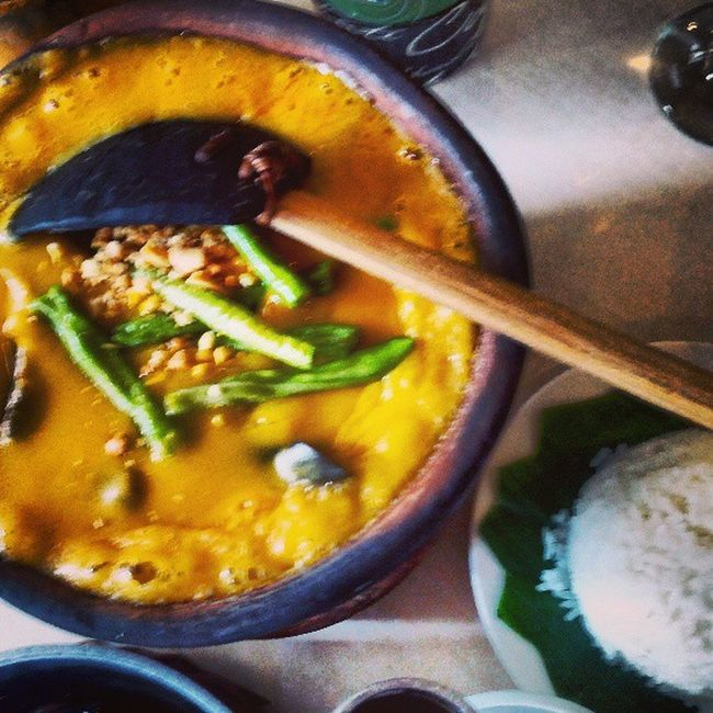 Kare-Kare... It's A Lot Yummier In The Philippines! at Barrio Fiesta BarrioFiesta Flipcuisine Philippines