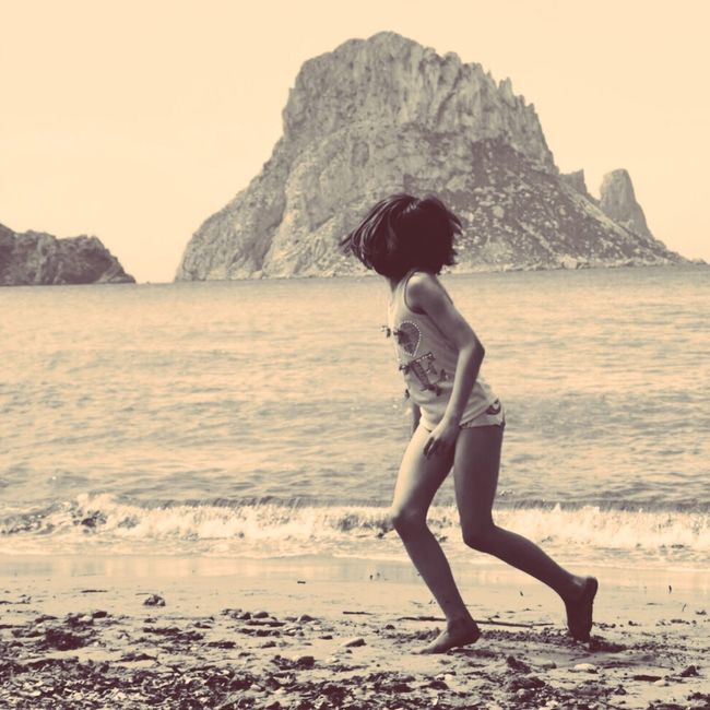 Once upon a time... Enjoying Life Blackandwhite Summer Sea Beach Sunny Day