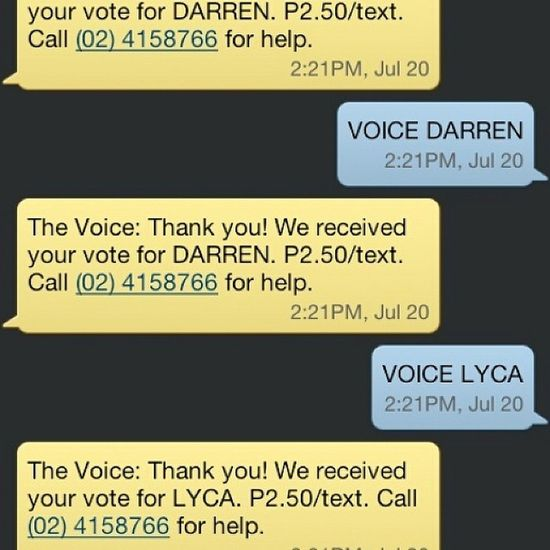 Well, I can't help but vote for this young, amazing, and talented kids. Such phenomenal performers. All the best tonight Lyca and Darren. Voicekidsph Teamsarah Lyca Darren  voice singers best TheVoiceKidsPh TheVoiceKids