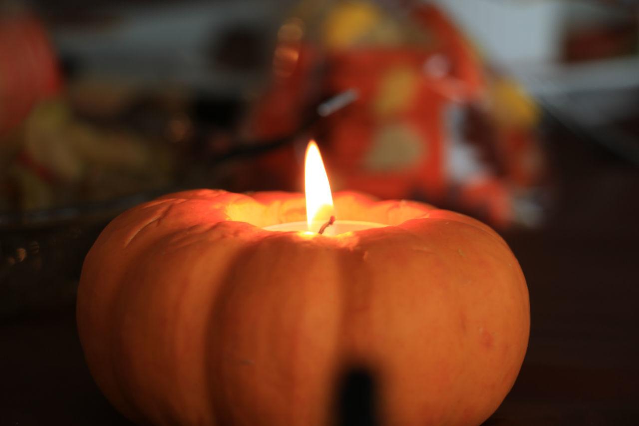Autumn Burning Candle Celebration Close-up Day Diya - Oil Lamp Fall Flame Heat - Temperature Illuminated Indoors  No People Thanksgiin Thanksgiving