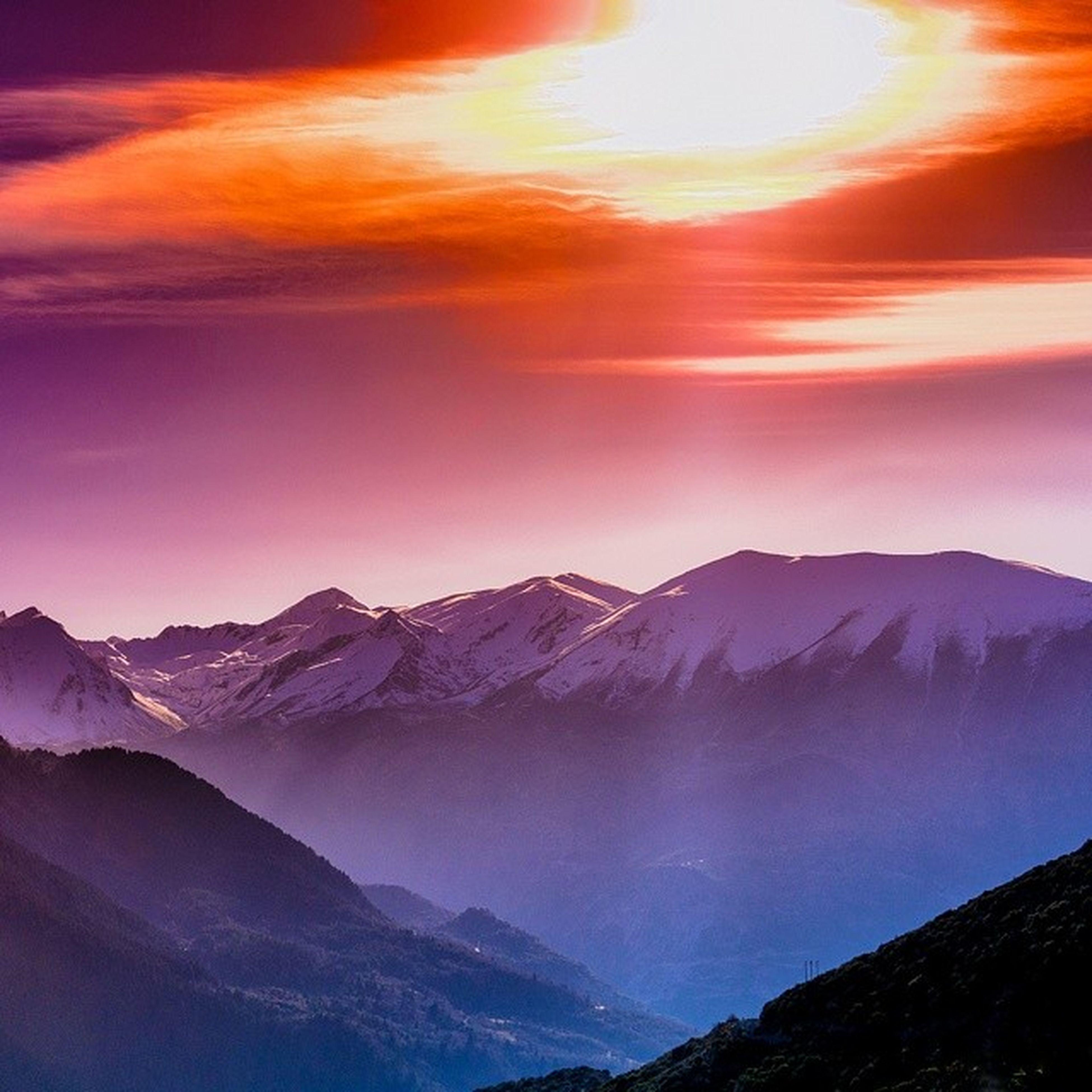 mountain, mountain range, scenics, tranquil scene, snow, tranquility, beauty in nature, winter, cold temperature, sunset, snowcapped mountain, nature, sky, landscape, idyllic, season, weather, majestic, non-urban scene, cloud - sky