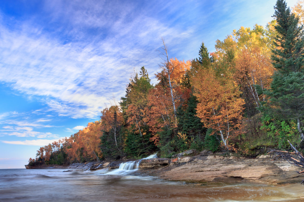 Autumn Beauty In Nature Elliot Falls Lake Superior Long Exposure No People Pure Michigan Tranquil Scene Tranquility Upper Peninsula Water Waterfall