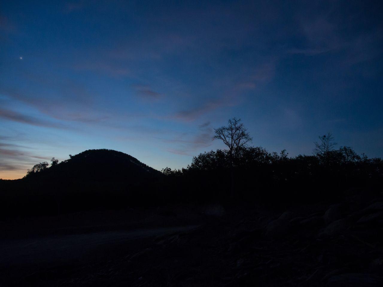 Thailand Evening Sky Satun Province Evening Star Sillhouette Sky