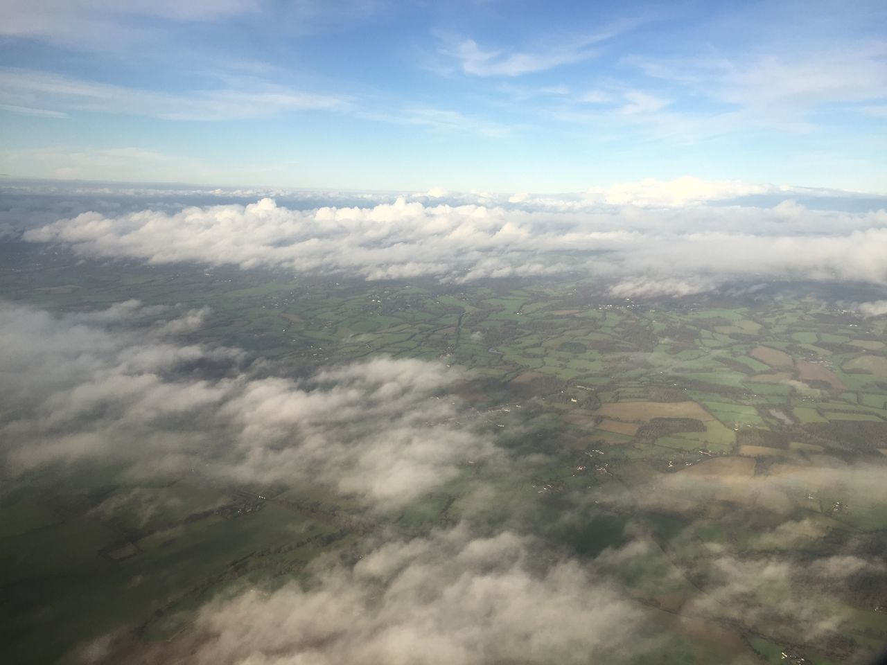 beauty in nature, nature, scenics, tranquil scene, tranquility, landscape, day, outdoors, aerial view, cloud - sky, no people, sky, agriculture, patchwork landscape, rural scene