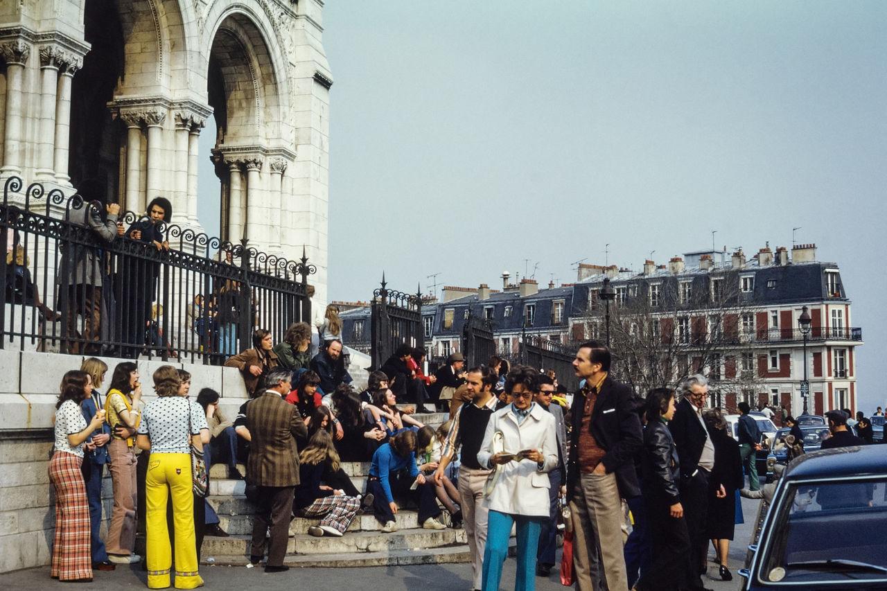 Vintage view of Paris in the seventies 1970 1970s 1974 Film France French Paris Retro Retro Style Slide Vintage Vintage Cars