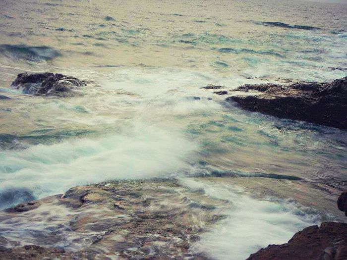 Sea Waves Calm Evening Rocks Sound Of Waves No People Beauty In Nature