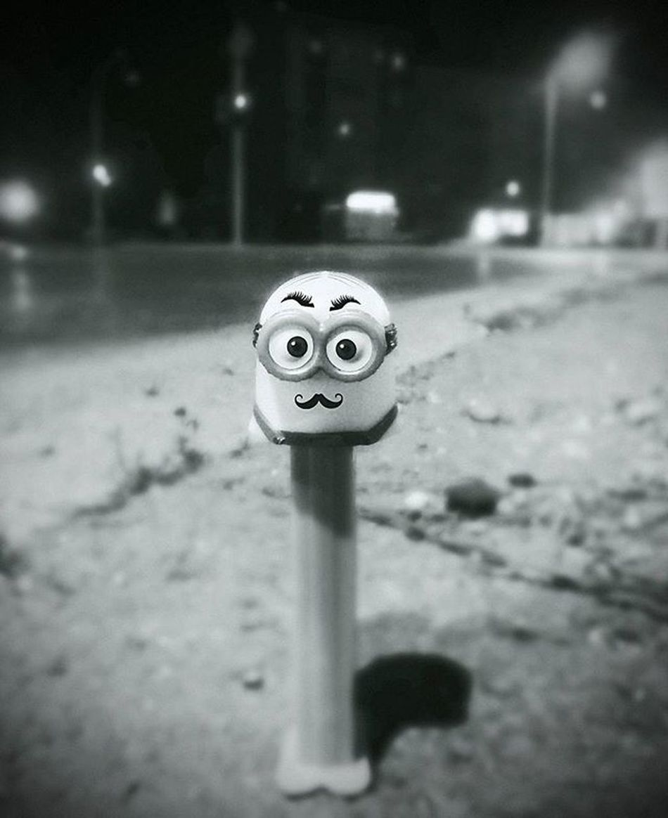 Toy Fun PEZ Candy Minion  Love Gift Mustache Minionlive Play Childish NeverGrowUp Bw Street Frommypointofview Blackandwhite New Now