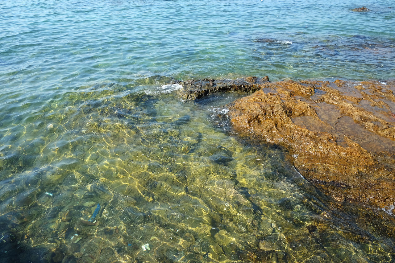 Beauty In Nature Close-up Day High Angle View Nature No People Outdoors Refraction Rippled Sea Water