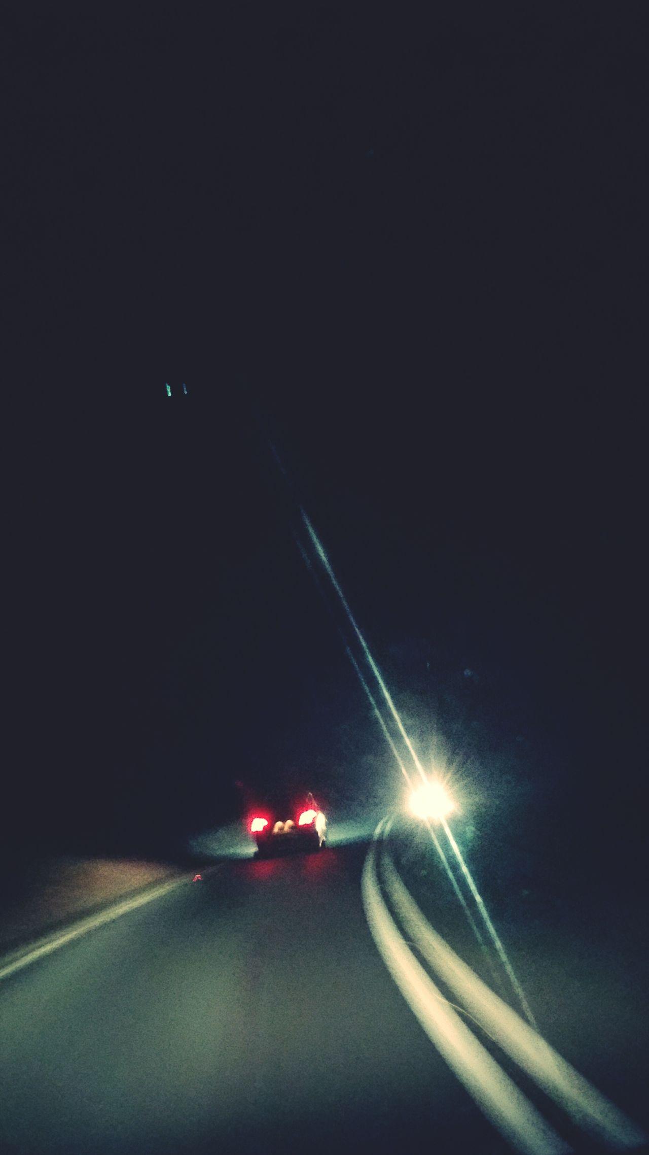 Nightphotography Nightdriving View From My Dash