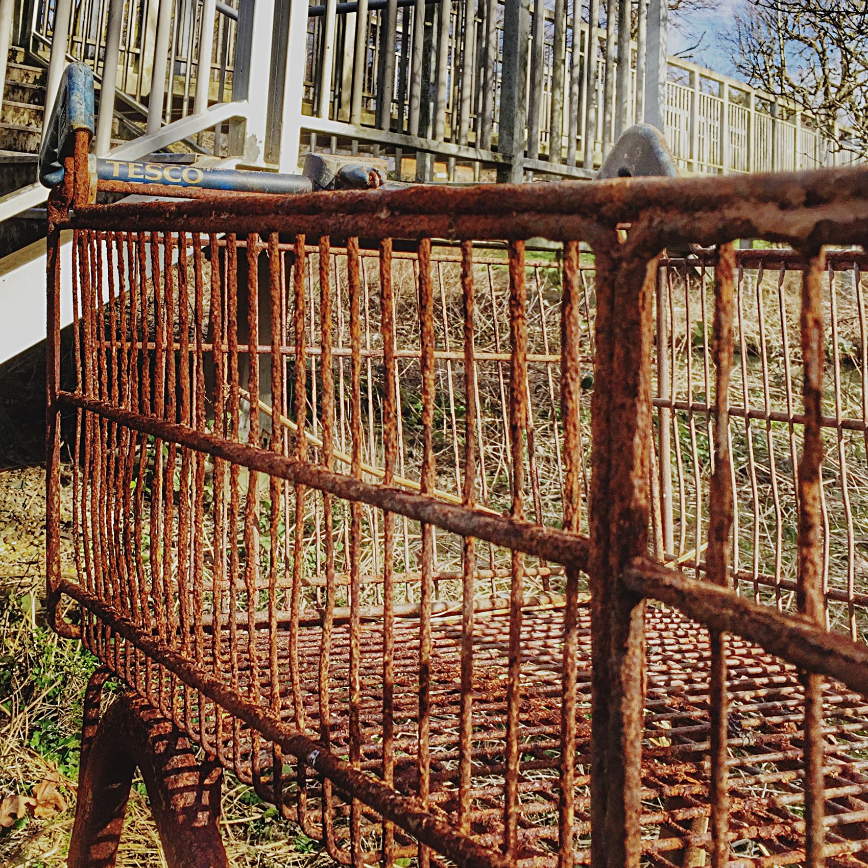 Rusty Metal Shopping Trolley