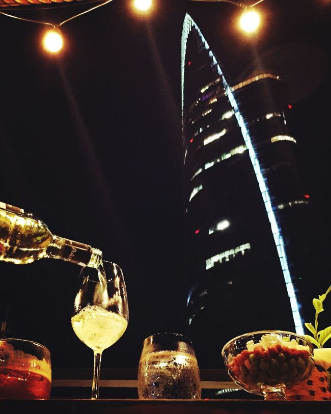 Battle Of The Cities Nightlife Bitexco Whitewine Pokerface Where I Live Saigon, Vietnam Chilling After The Rain