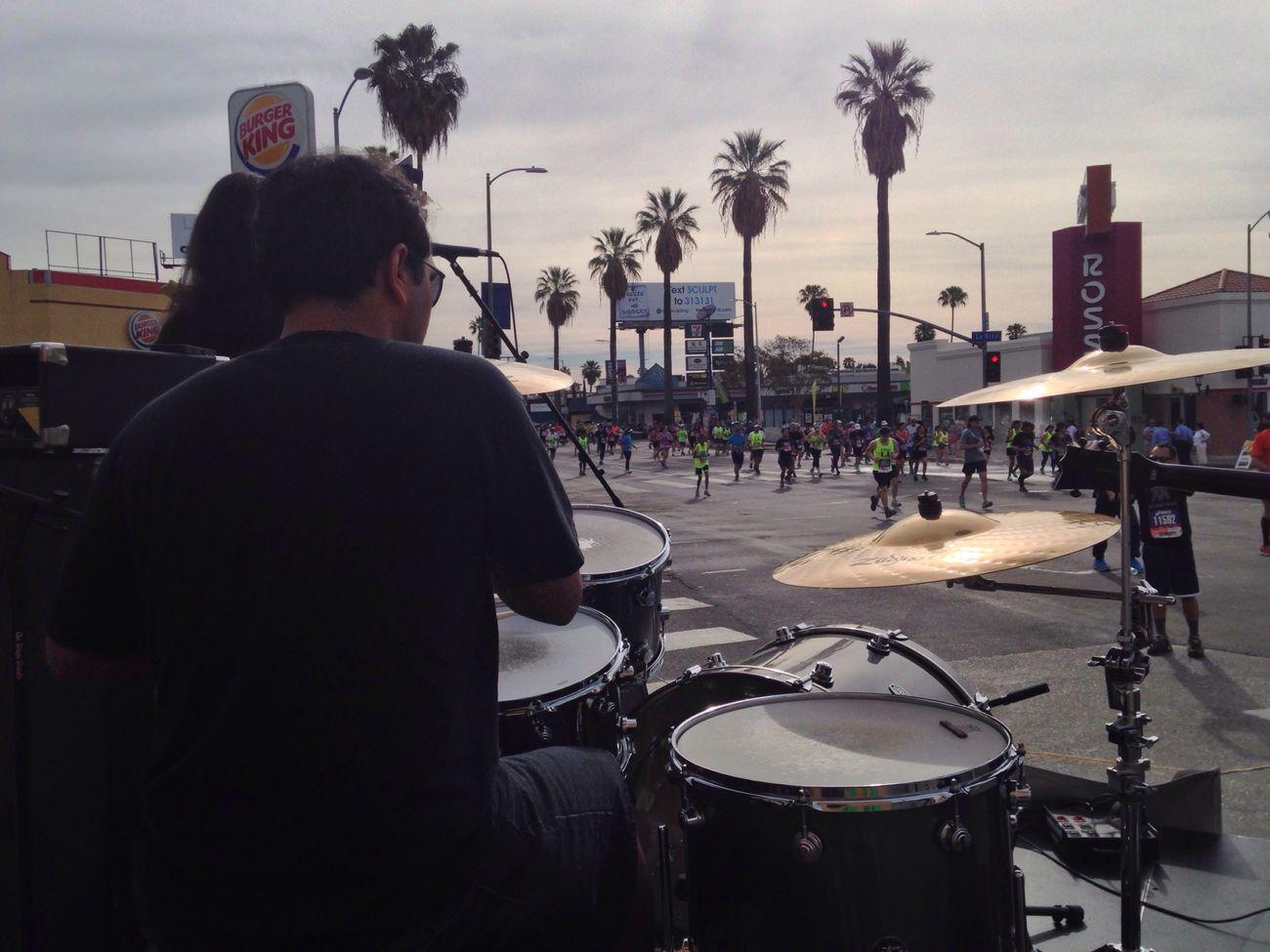 Live Music LA Marathon Friends Hanging Out A Thousand Suns Music Brings Us Together