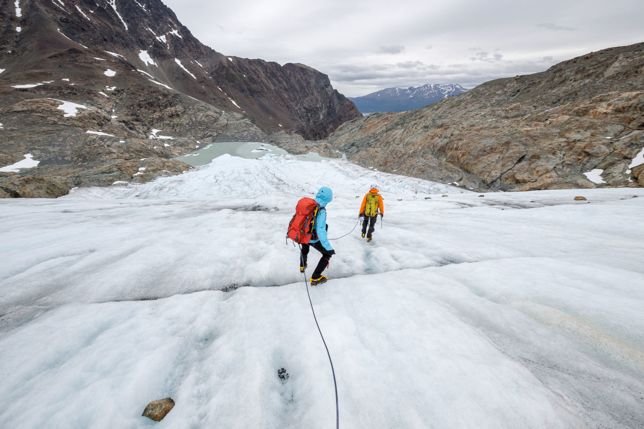 Adult Adventure Beauty In Nature Climbing Cold Temperature Crevasse Day Effort Full Length Glacier Hiking Ice Climbing Landscape Lyngen Lyngen Alps Mountain Nature Northern Norway Norway Outdoors People Snow Strupbreen Warm Clothing Young Adult