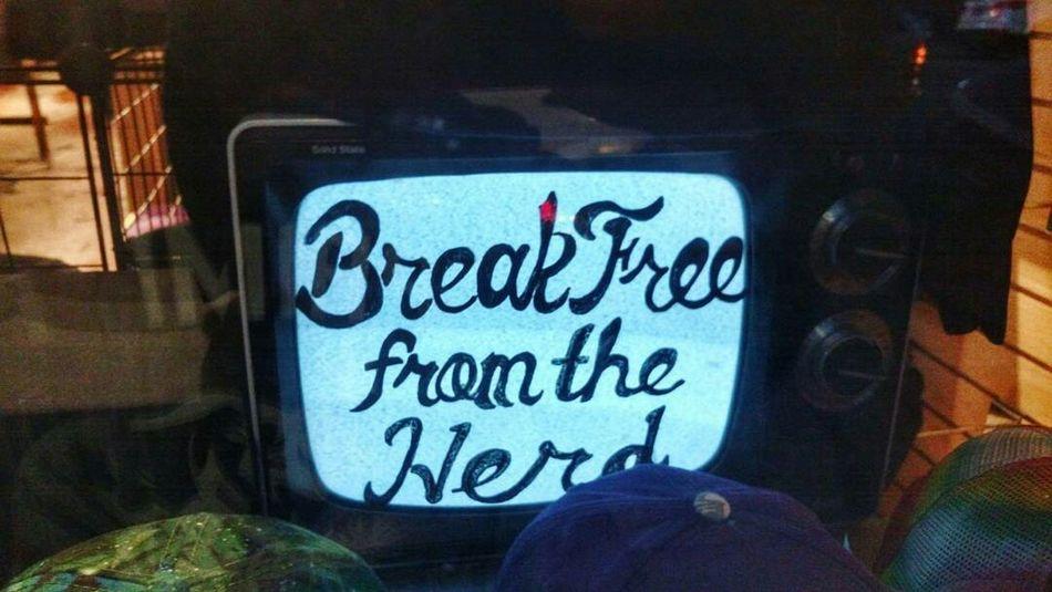 Break Free Art Tv Television Mind  Manipulation Mental Slavery Idiot Box