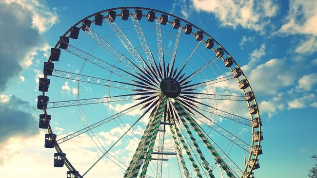 Canstatter Wasn Riesenrad Stuttgart Germany Fair Wasn Life Is Beautiful Blue Sky White Clouds A Day With Friends
