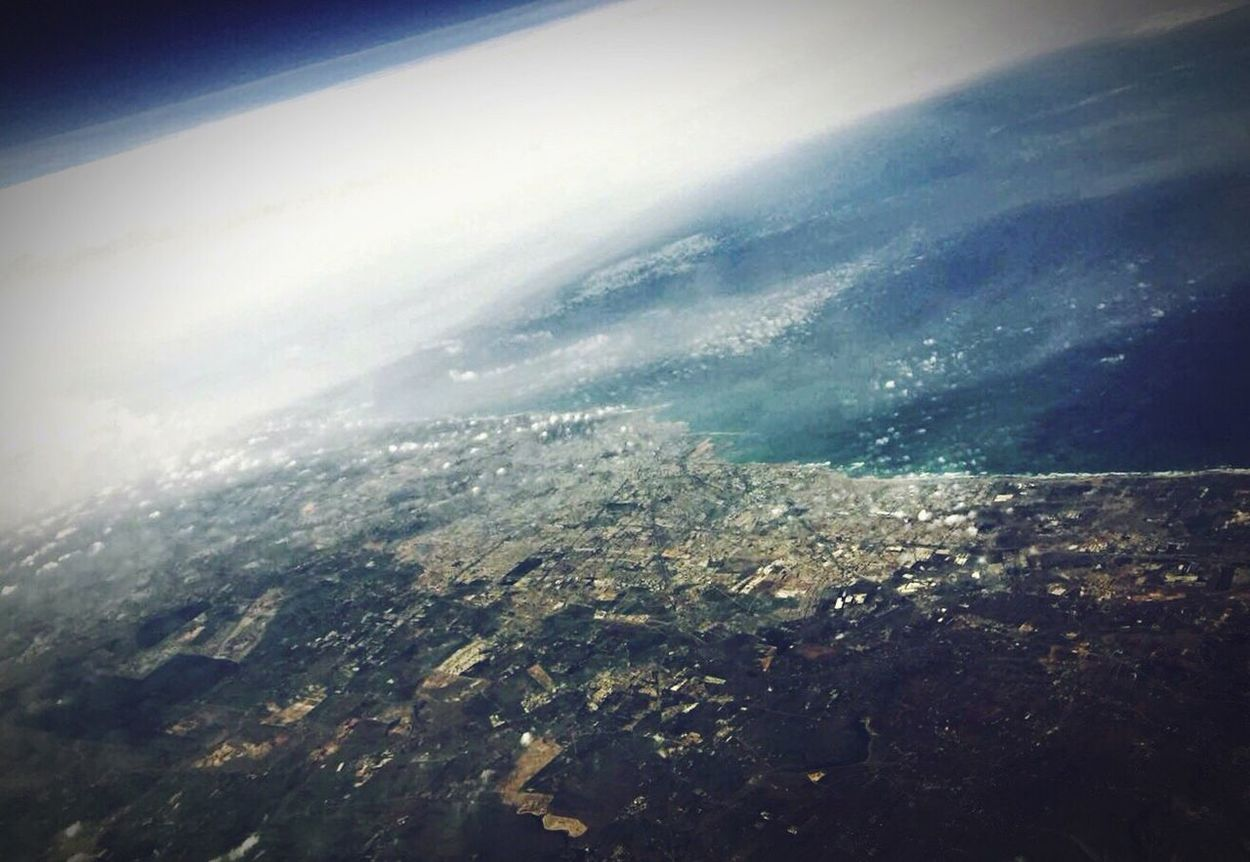 Hello World From An Airplane Window Casablanca 10000m .. Flying in the, Sky .. Clouds ..my Country Morocco ❤