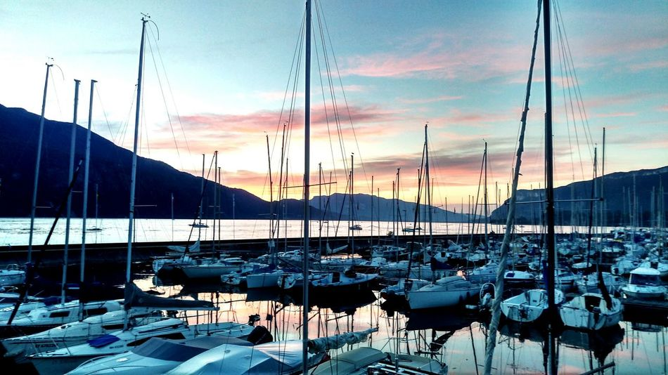 Sunset Sailboat Aix Les Bains