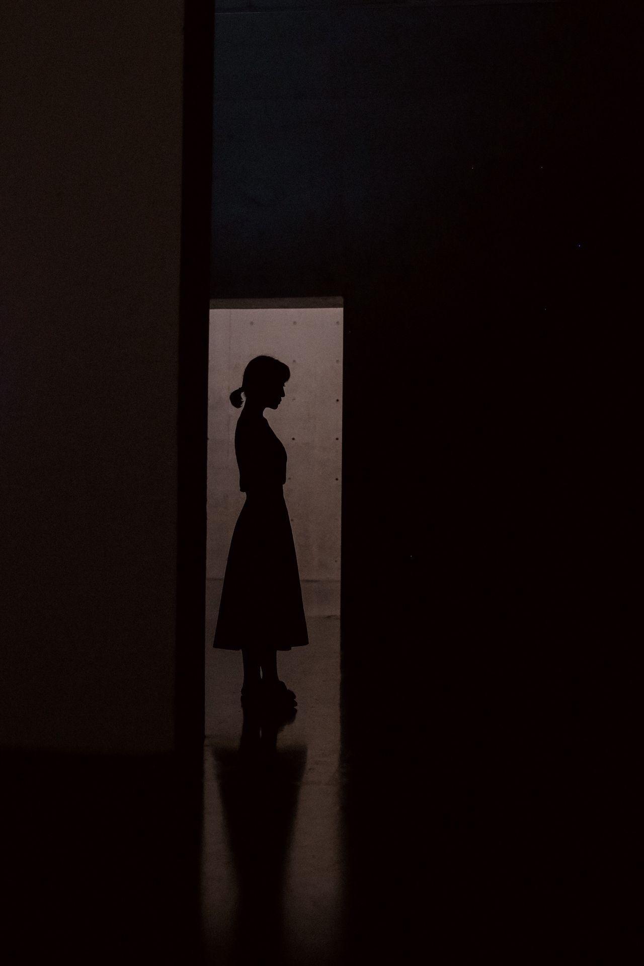 Standing in the dark InTheDark Standing Quietness light and shadow EyeEm Selects
