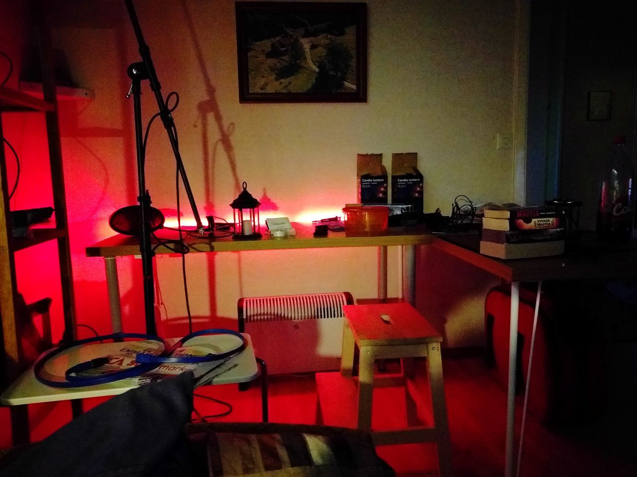 Desk Before Cleaning Indoors  Nexus 6P Manual Camera App Lowlight Table Red No People