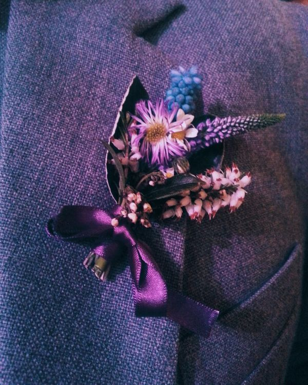 Wedding Hand Made Flower Fresh hand made button hole