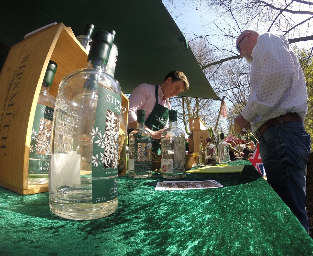 A Customer Sampling 'Sipsmith Gin' At Stall In Liverpool's Food, Drink & Lifestyle Festival- Sefton Park...x Sipsmith Gin GIN Alcohol Customer  Shopper Shopping ♡ Food And Drink Drink Festival Sefton Park Liverpool Itsliverpool First Eyeem Photo Livfoodfest LFDF2016