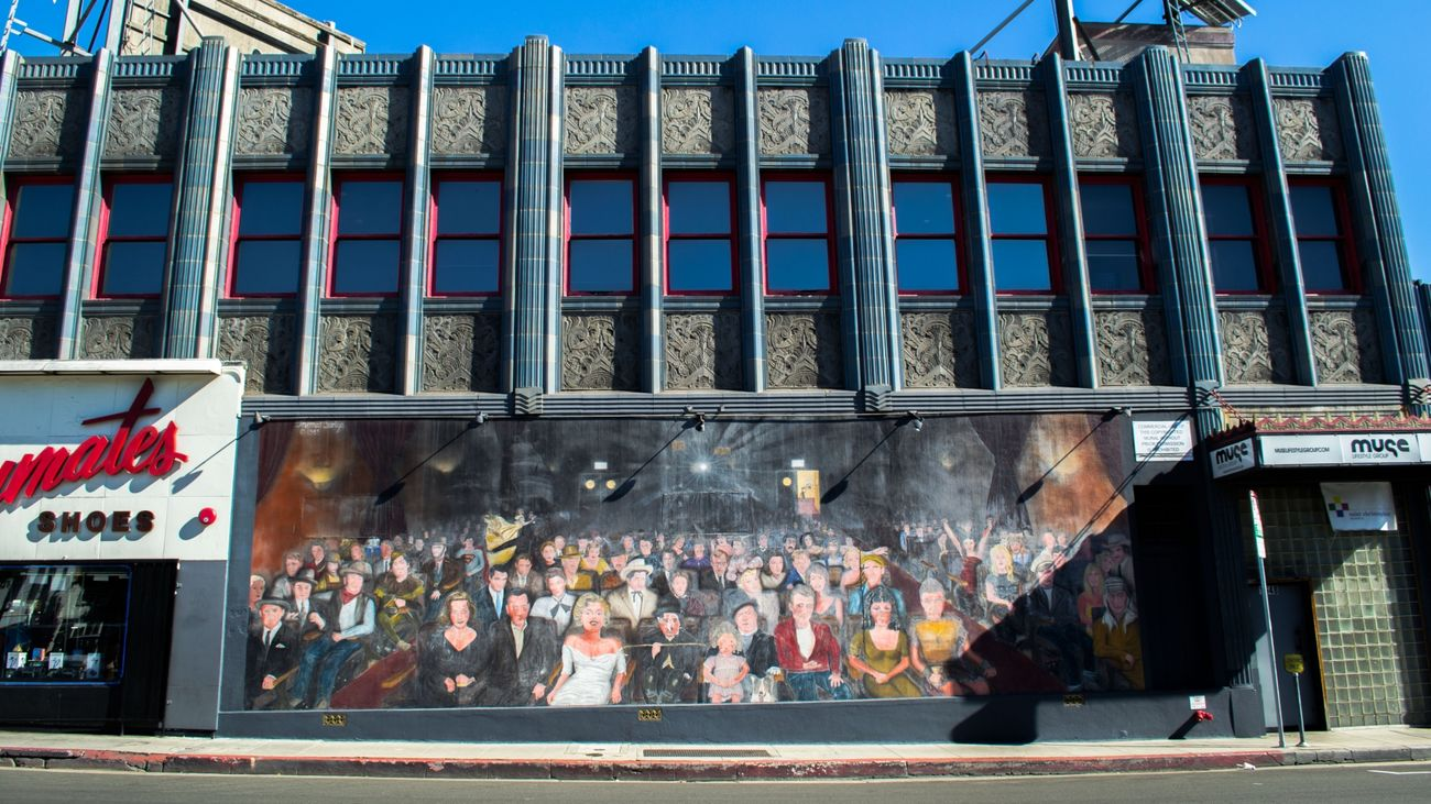 Mural from La La Land movie - From our tour California California Love Cat City Friendlylocalguides Lalaland Landscape Los-angeles MOVIE Mural USA Visit