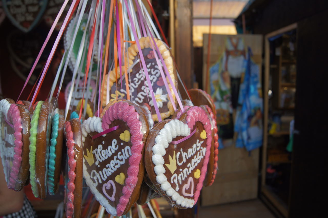 Beautiful stock photos of oktoberfest, For Sale, Gingerbread Cookie, Hanging, Heart Shape