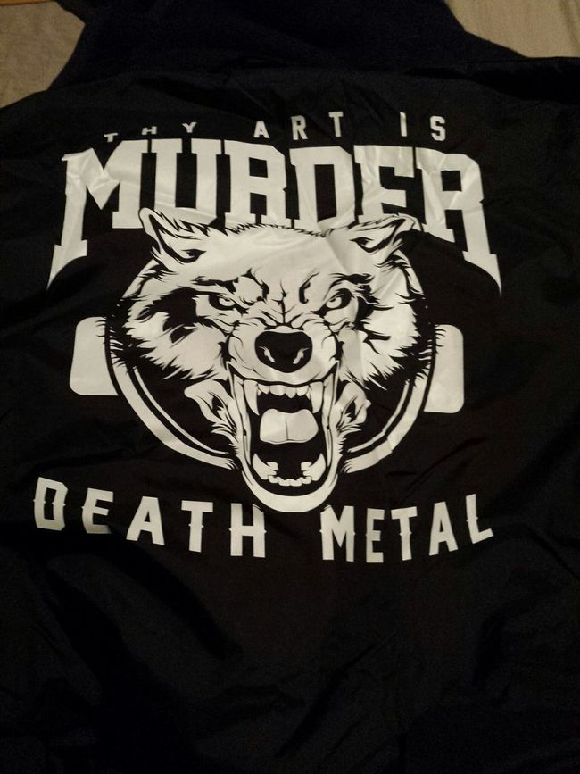 My wind breaker arrived woop!! Thy Art Is Murder
