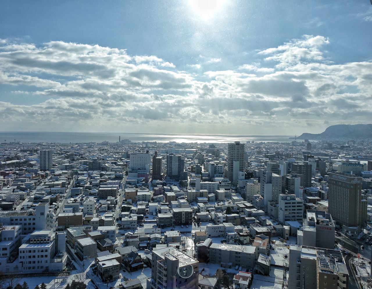 City Cityscape Architecture Sky Sunlight City Life Residential Building Urban Skyline Outdoors Cloud - Sky Hakodate