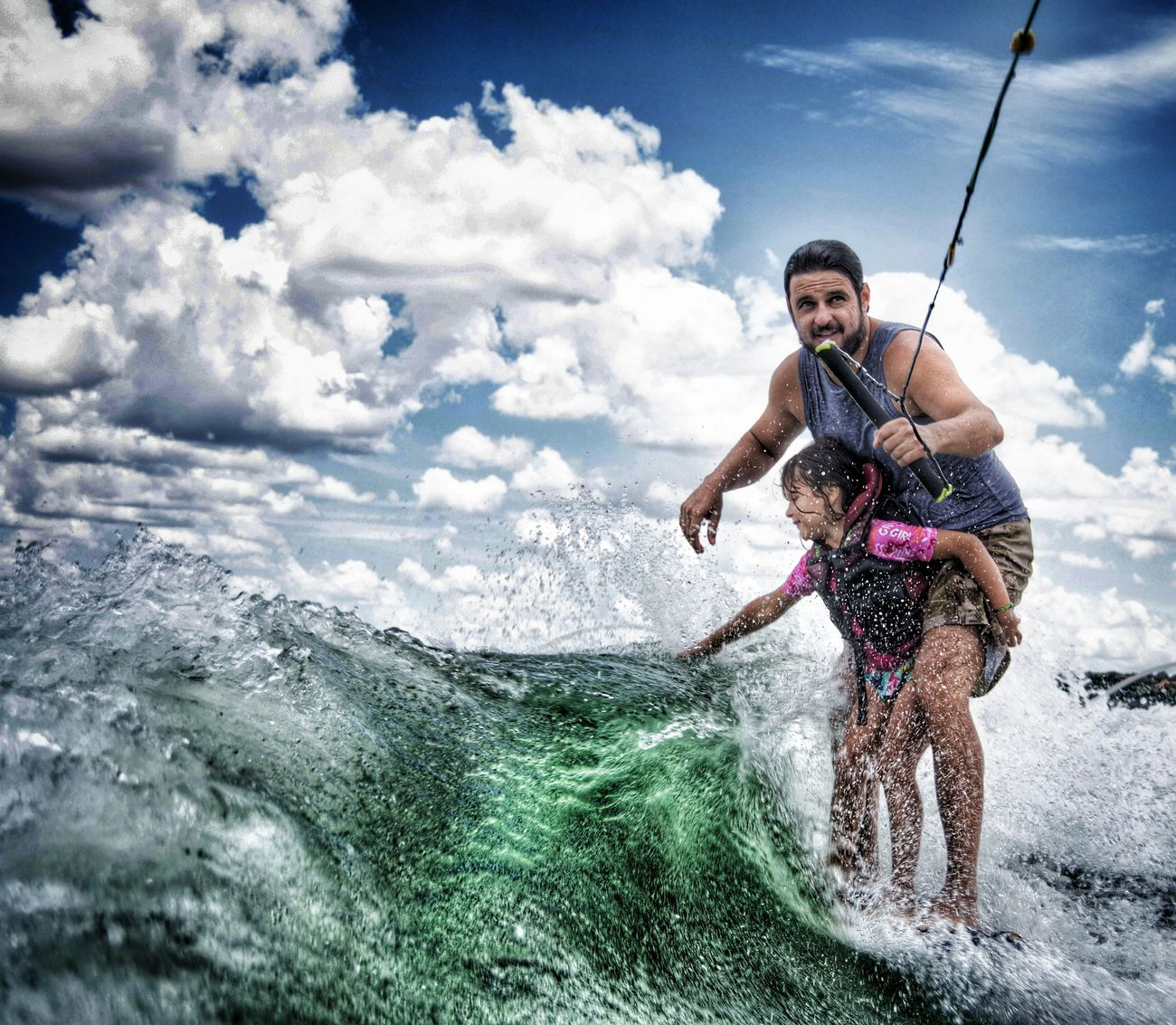 Surfing Wakesurfing Wakesurf Lago Paranoa Brasília Brazil Sky Sport Cloudscape Water Cheerful People Portrait Fun Outdoors Multi Colored Leisure Activity Summer Travel Destinations Child Looking At Camera Cloud - Sky Vacations Surf Wakeboarding