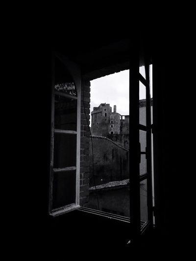 Castle Blackandwhite Window Village