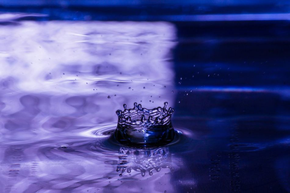Water Blue Rippled Water Surface Full Frame No People Splashing Watet Droplets Water Reflections Blue Tranquil Peace Silence Marketing
