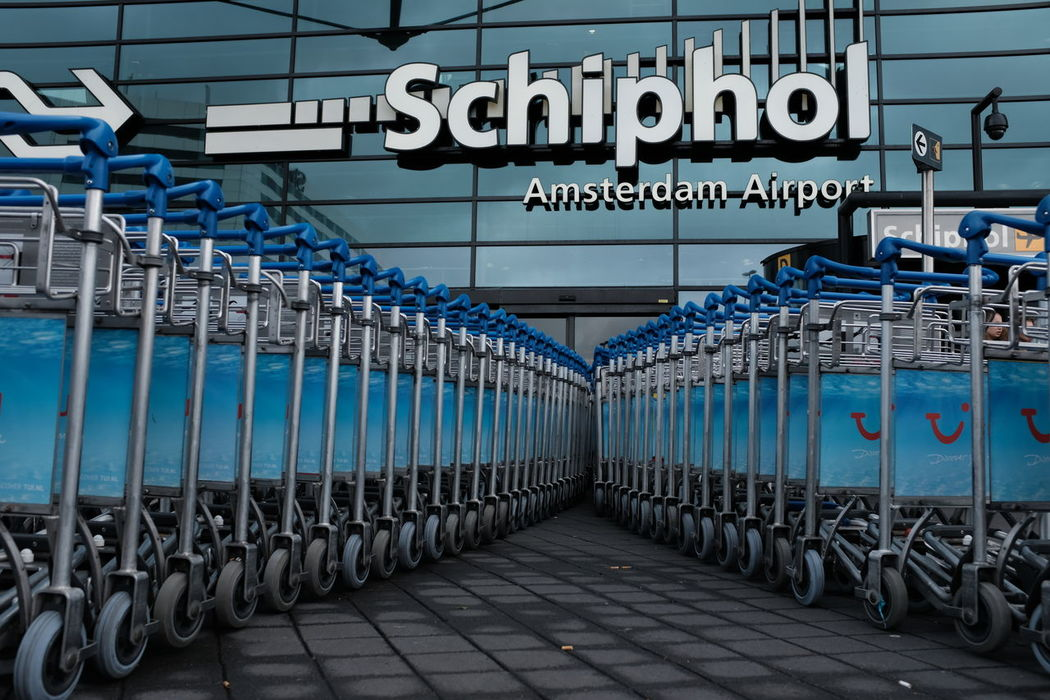 #Airport #Amsterdam  #Schiphol #luggage #netherlands #trolleys Blue