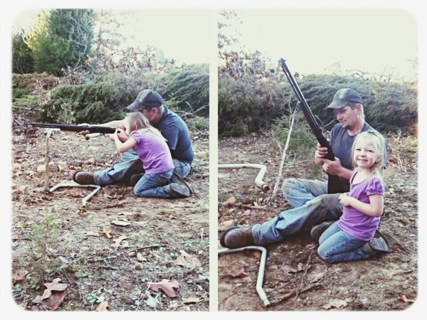 my little redneck shootin the .22 Target Shooting Redneck Good Times Start Them Young