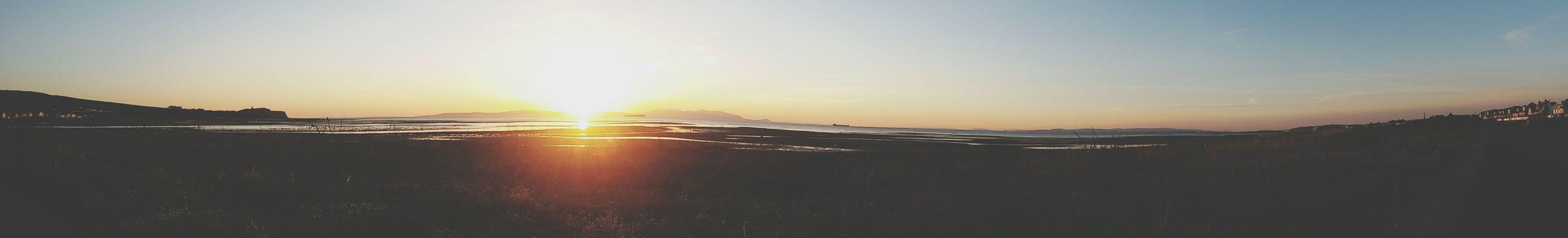 Sea Beach Sunset Scotland Blury Sky Colours Pretty Silhouettes Landscpe