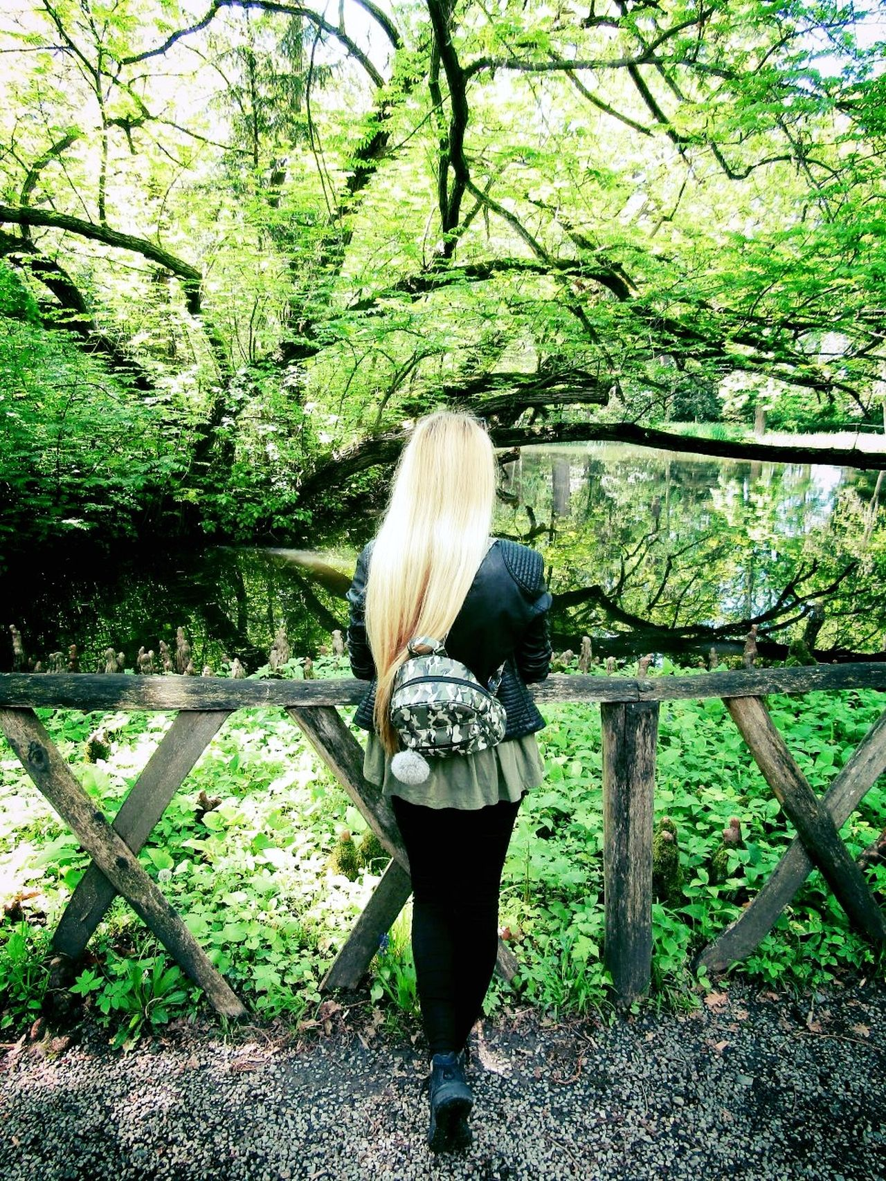 Outdoors Standing Nature Only Women Young Women Girl Hungariangirl FollowmeGreen Color Blondehairdontcare Water Lakephotography Landscape Blondegirl Back Waterreflections  Lakeview Wood Tree Moment Capture The Moment Outdoorphotography Nature On Your Doorstep From My Point Of View Beauty In Nature