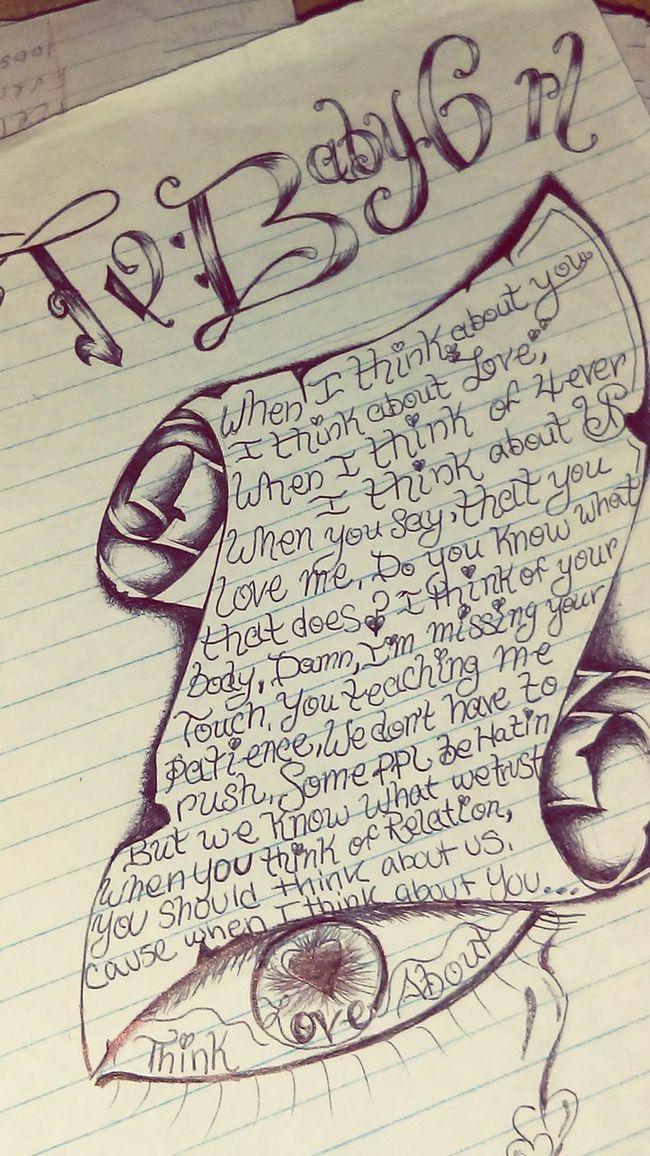 One of my favorites that Brandon has written me. 🌼 Loveletters Incarceration Loyalty Rideordiegoon