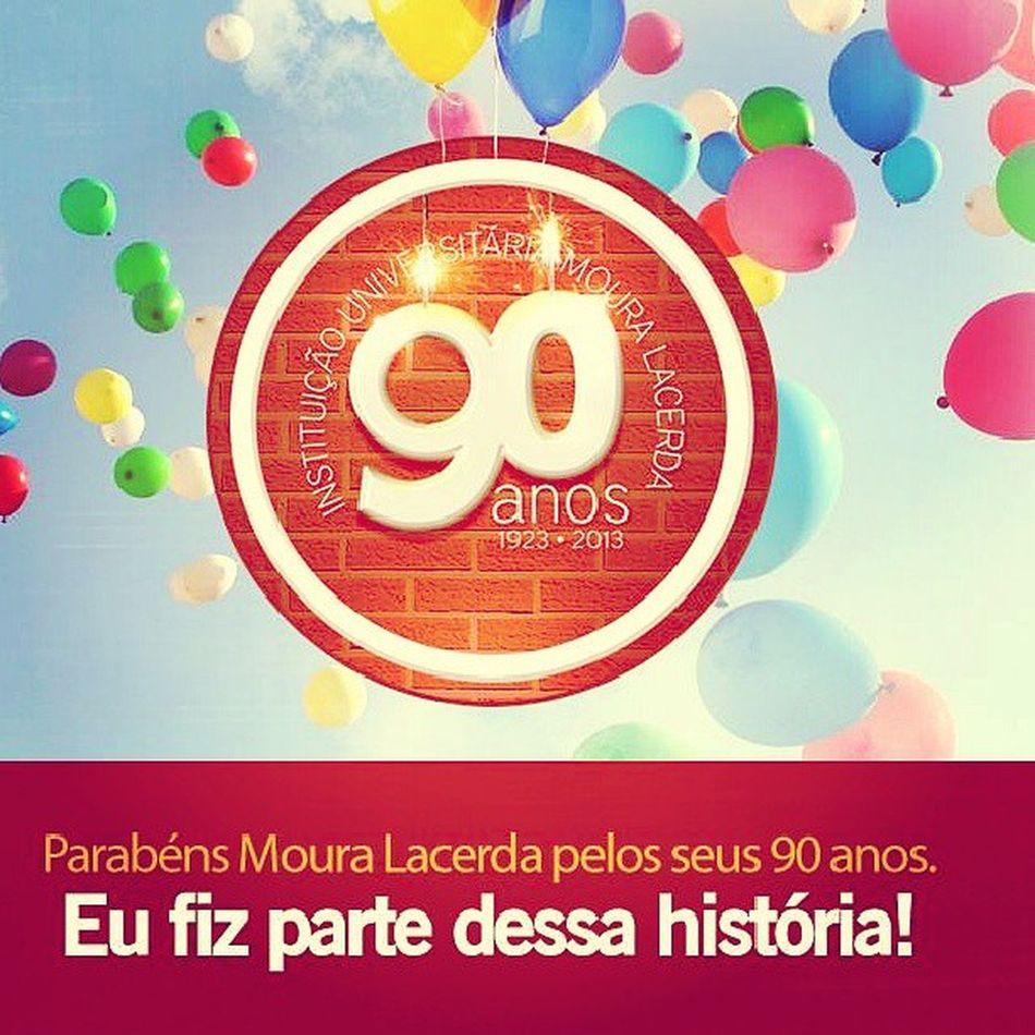 Faculdade ficando velhinha  MouraLacerda 90anos Festa