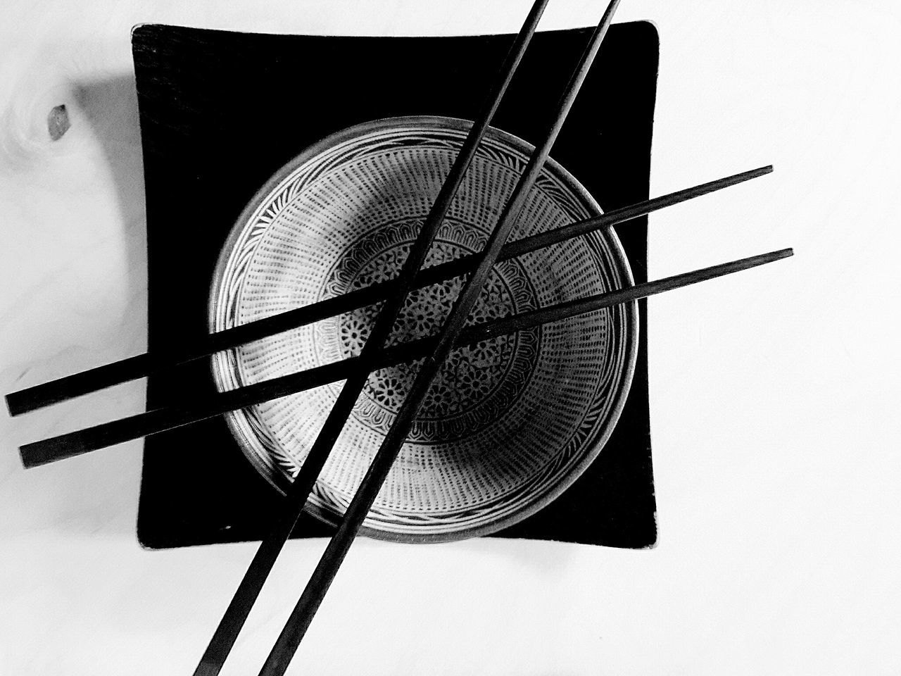 Directly Above No People Close-up White Background Day Indoors  Blackandwhite Asianstyle Foodphotography